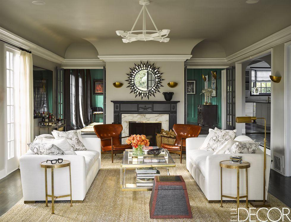 Stylish designs living room 2018 White Sofa Ideas Elle Decor 24 Best White Sofa Ideas Living Room Decorating Ideas For White Sofas
