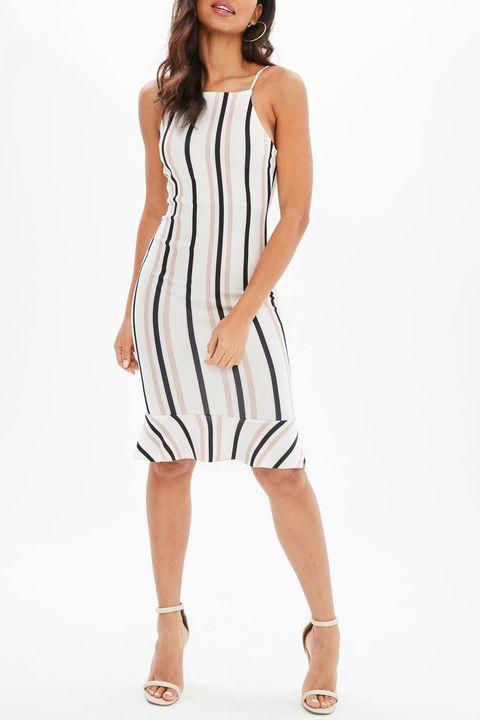Clothing, Fashion model, Dress, White, Day dress, Cocktail dress, Shoulder, Neck, Photo shoot, Fashion,