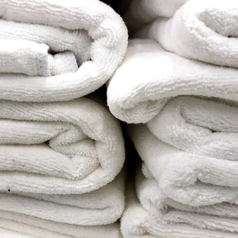 White towels.