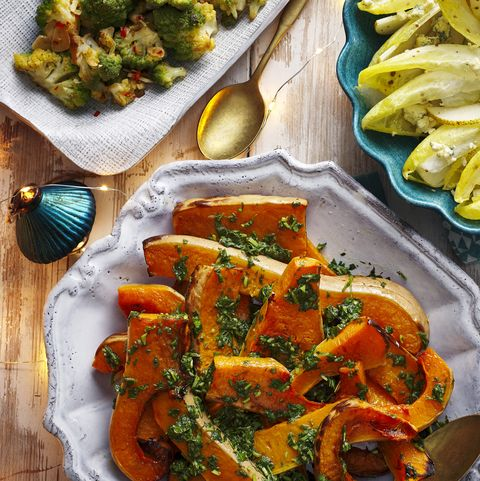 vegetarian christmas recipe roasted herby squash