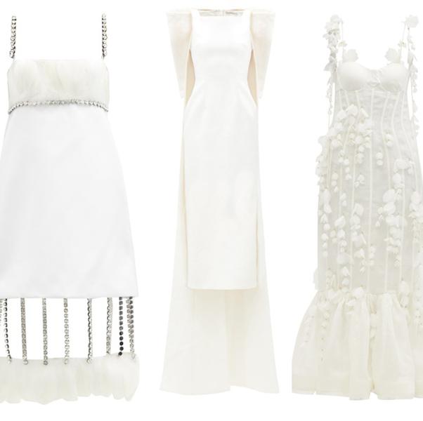 ファッションブランドの白ドレス