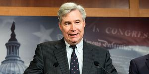 Democratic Senator's Press Conference on Impeachment in Washington, US