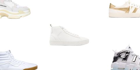 b08ab82648 26 Best White Sneakers for 2018 - Classic White Shoes That Go With ...