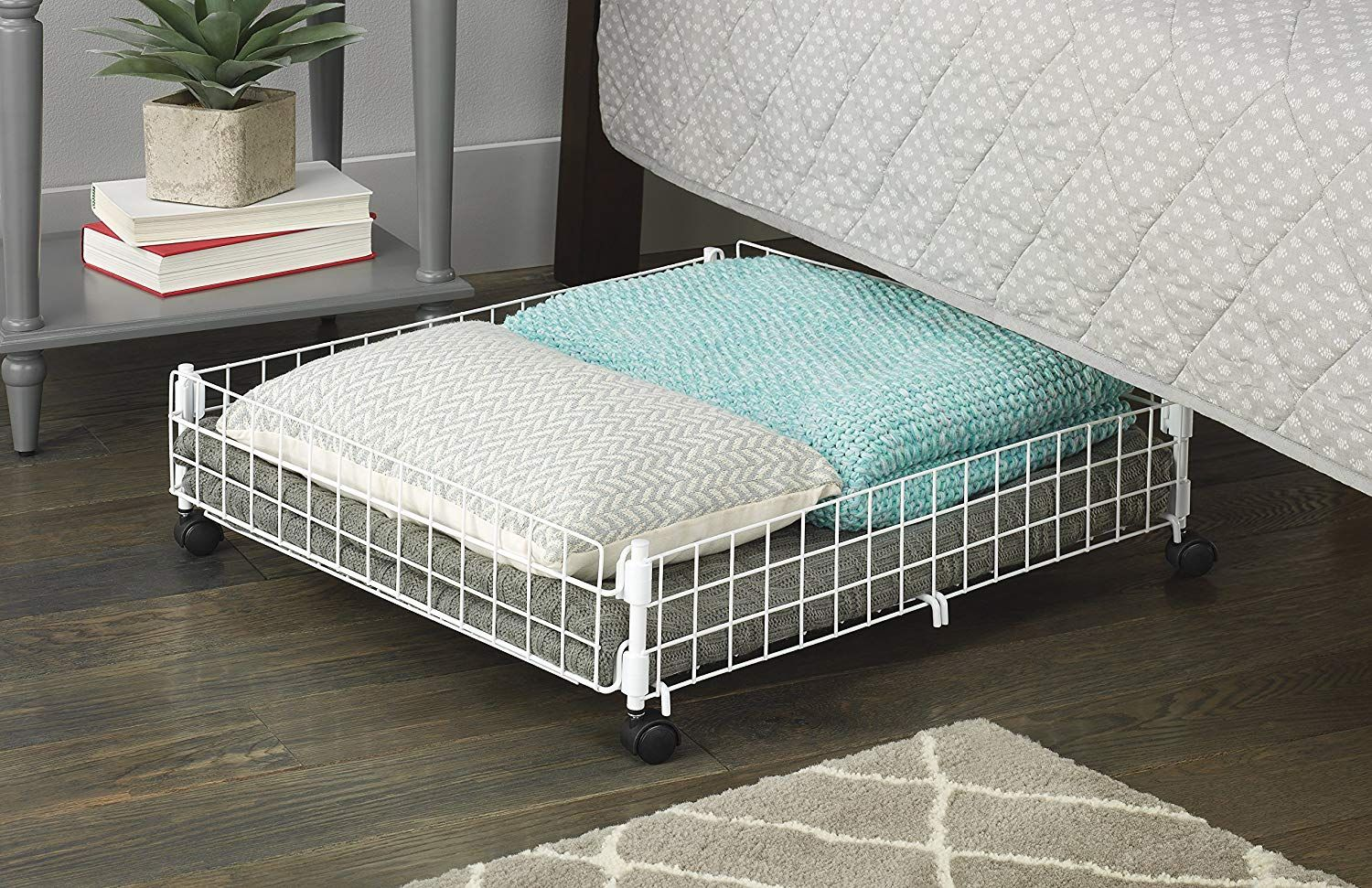 This Rolling Underbed Storage Cart Is the One Thing You Need to Organize Your Dorm Room