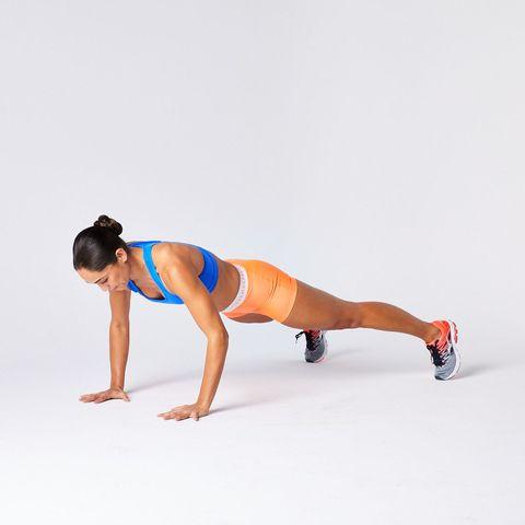Press up, Arm, Shoulder, Physical fitness, Abdomen, Fitness professional, Joint, Leg, Thigh, Human leg,