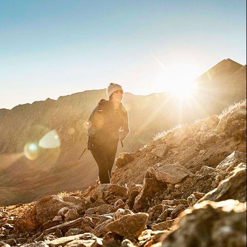 Sky, Sunlight, Light, Mountain, Morning, Photography, Lens flare, Rock, Landscape, Backlighting,