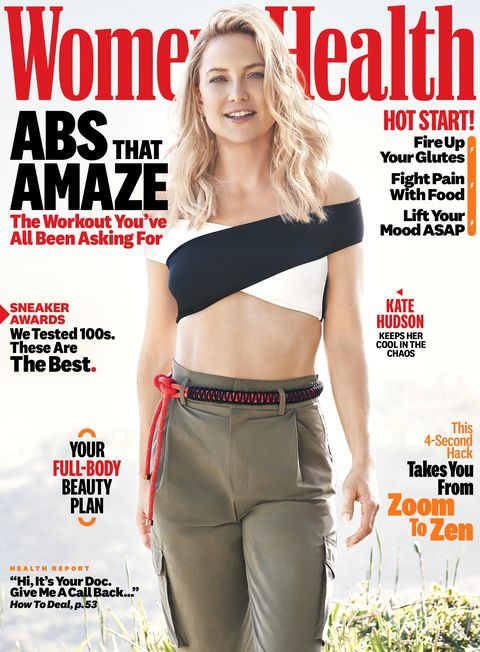 women's health magazine with kate hudson in the cover