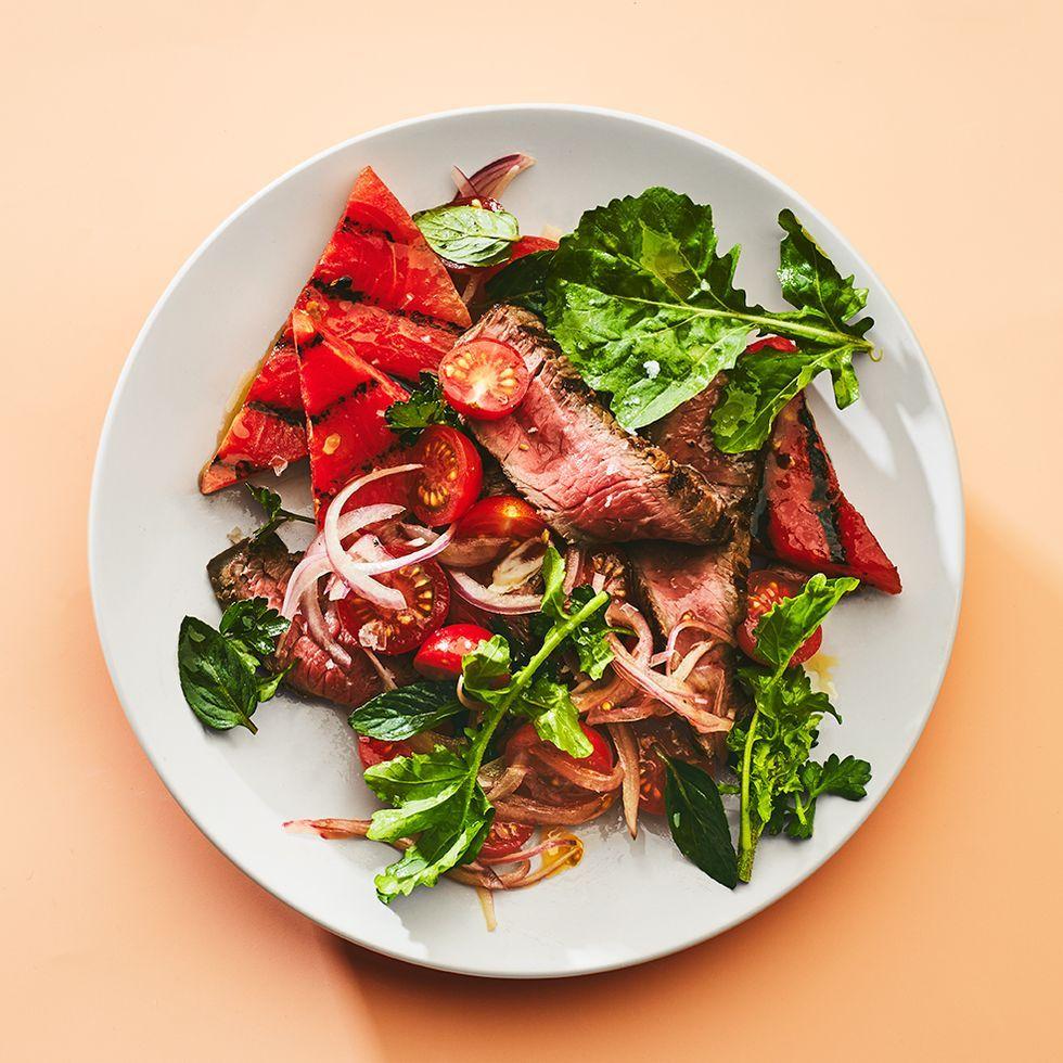 Steak Salad Recipe With Grilled Watermelon