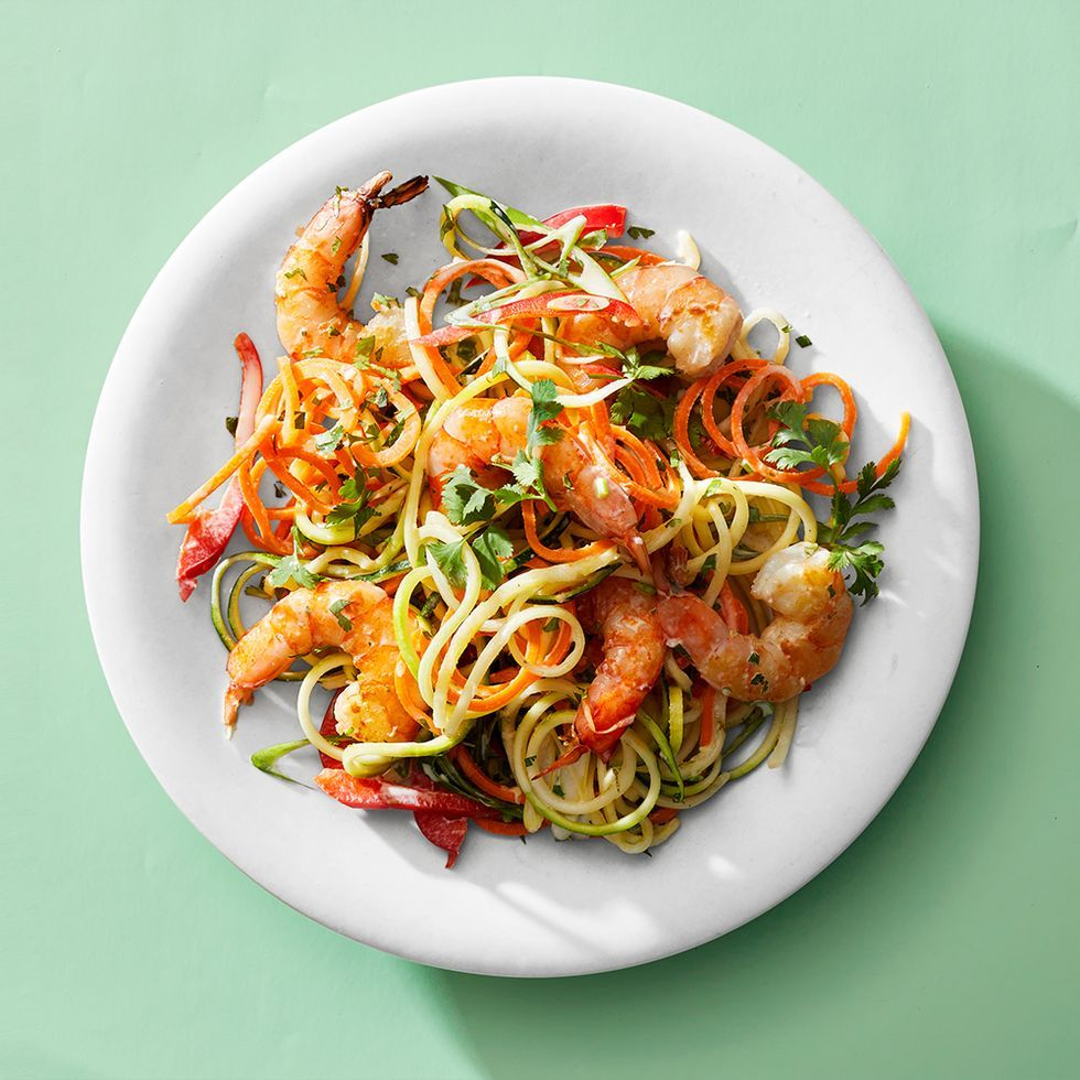 Coconut-Lime Marinated Shrimp And Zoodles Recipe