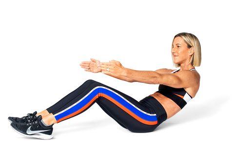 Arm, Leg, Thigh, Knee, Human leg, Joint, Crunch, Muscle, Exercise, Abdomen,