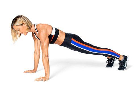 Press up, Arm, Leg, Thigh, Abdomen, Fitness professional, Knee, Joint, Physical fitness, Human leg,
