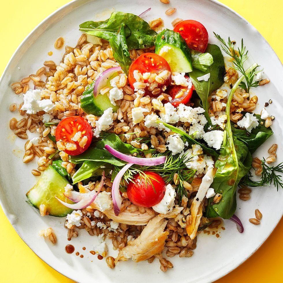 Greek Chicken and Farro Salad