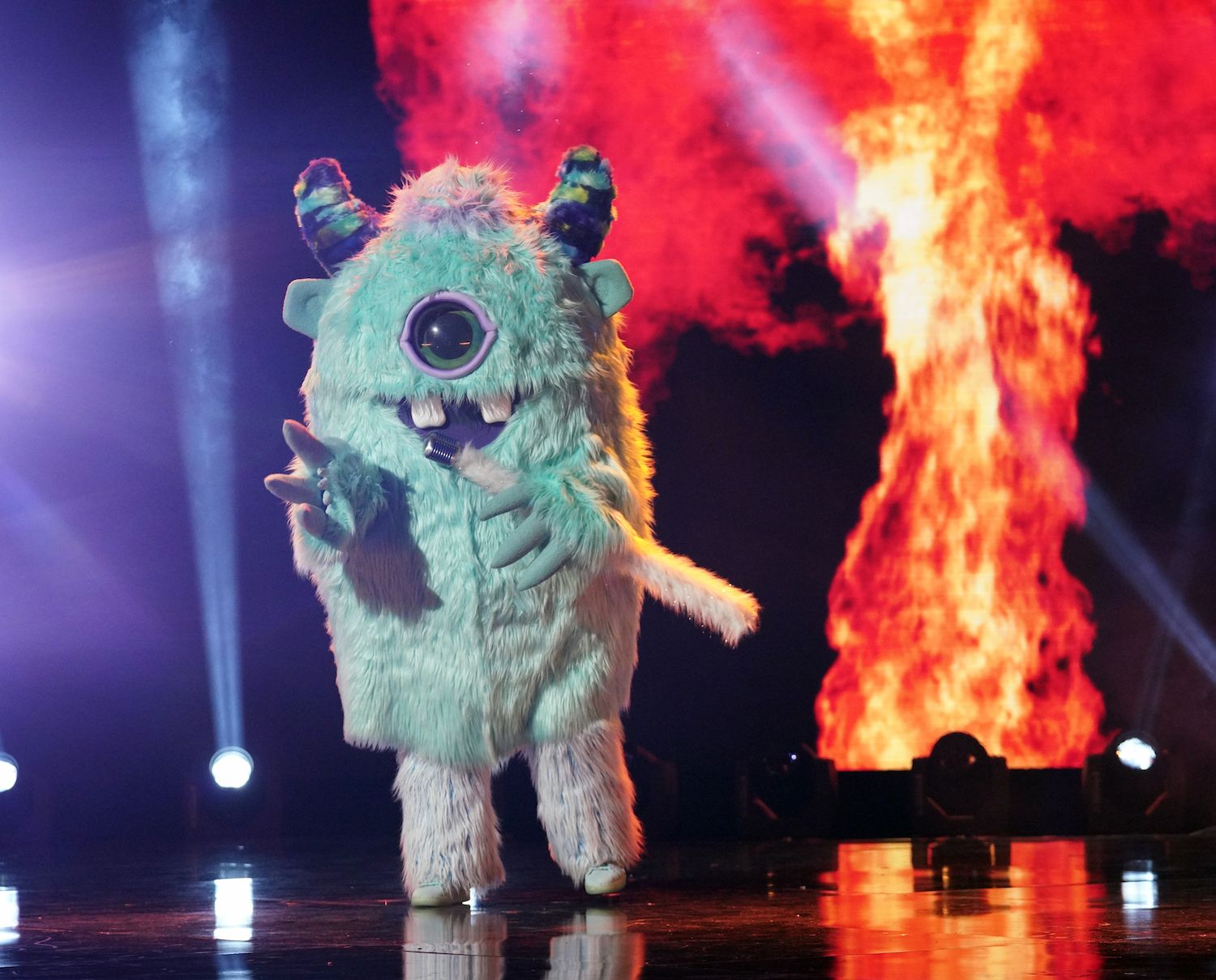 The Monster on the stage of The Masked Singer