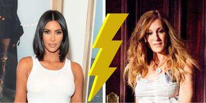 Who wore it better: Kim Kardashian Sarah Jessica Parker