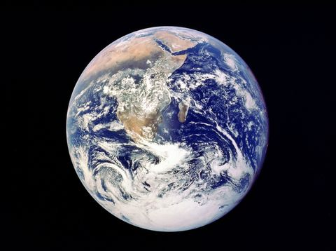 whole earth from space   view from apollo 17 december 1972 first photograph of south polar ice cap most of africa visible also arabian peninsular and madagascar malagasy nasa photograph