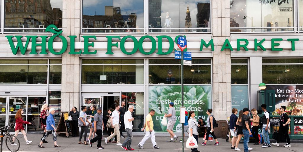 Whole Foods Market in Union Square in New York City...