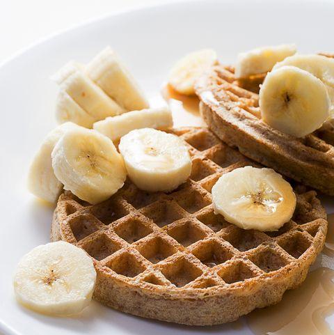 whole grain waffle and banana