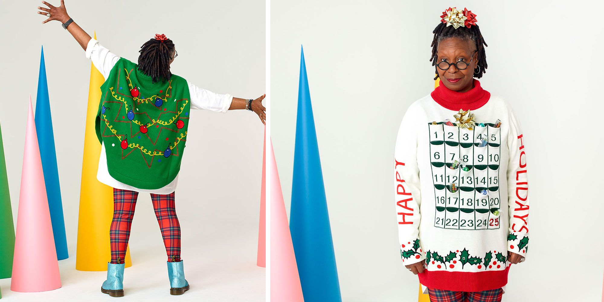 Whoopi Goldberg Ugly Christmas Sweater Line At Zappos 2018