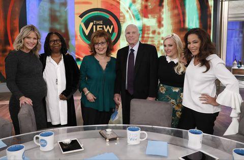 Whoopi Goldberg, Sara Hines, Joy Behar, Sunny Hostin, John McCain, Meghan McCain On 'The View'