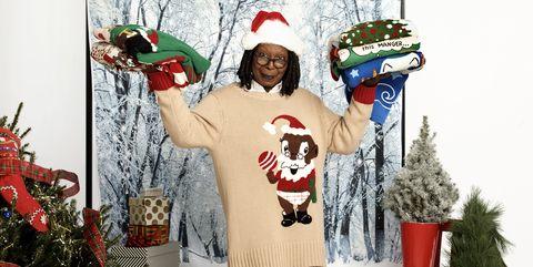 whoopi goldberg ugly holiday sweaters