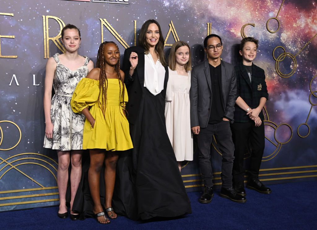 Why one of Angelina Jolie's children isn't on the red carpet with her
