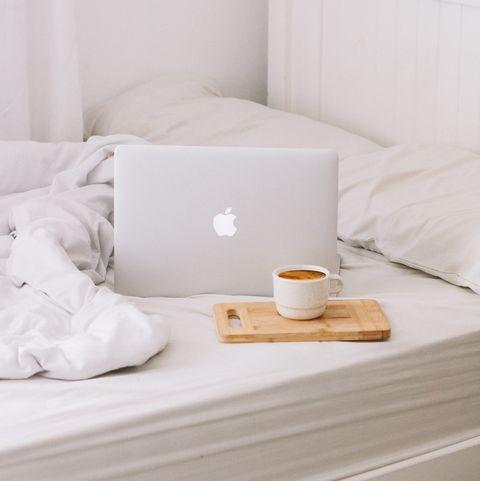 why white bedding