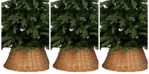 wicker christmas tree skirt christmas tree decorations