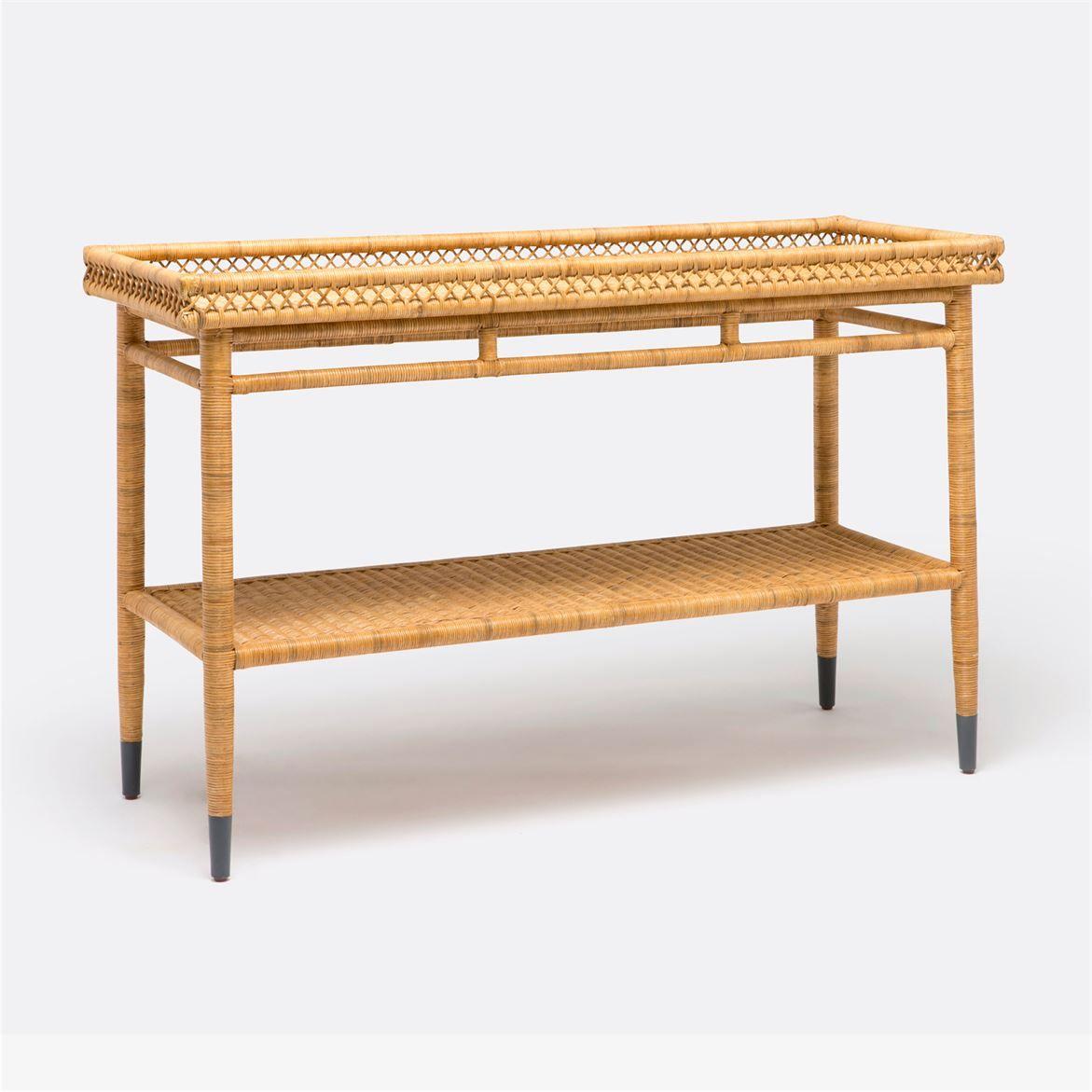 Trend Alert Year Round Wicker Furniture Indoor Rh Elledecor Com Rattan Sofa Table