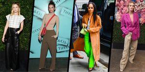 celebrities in wide-leg trousers