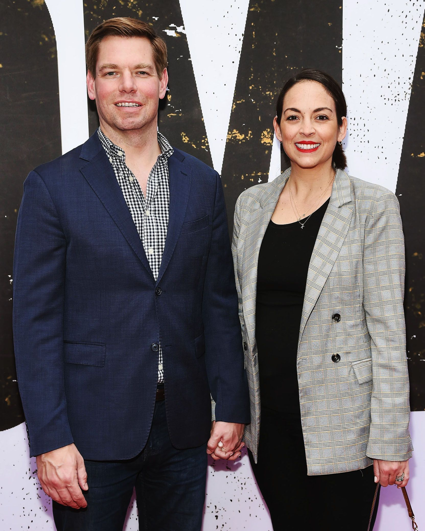 Swalwell and his wife, Brittany Watts, in New York City this month attending a performance of Oklahoma! (Alas, Rogers and Hammerstein chose not to write a musical titled Iowa!