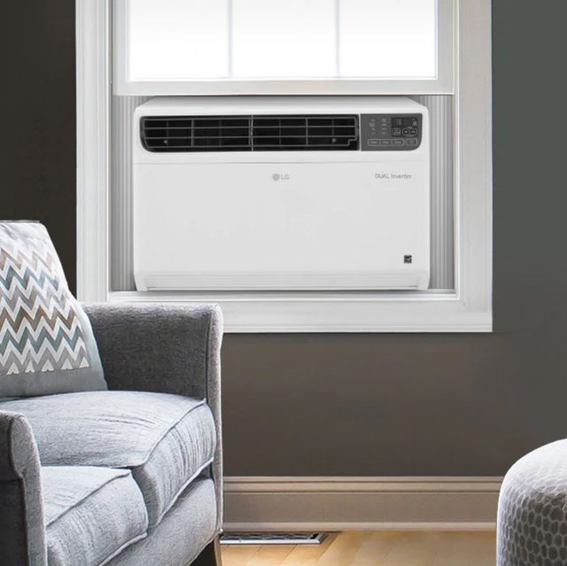 LG wi-fi air conditioner in living room window