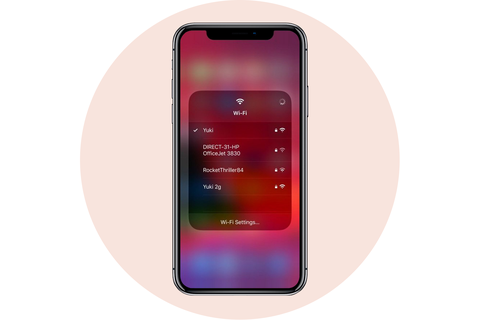 wifi networks shortcut apple iphone