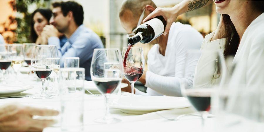 Wijn drinken, etiketten