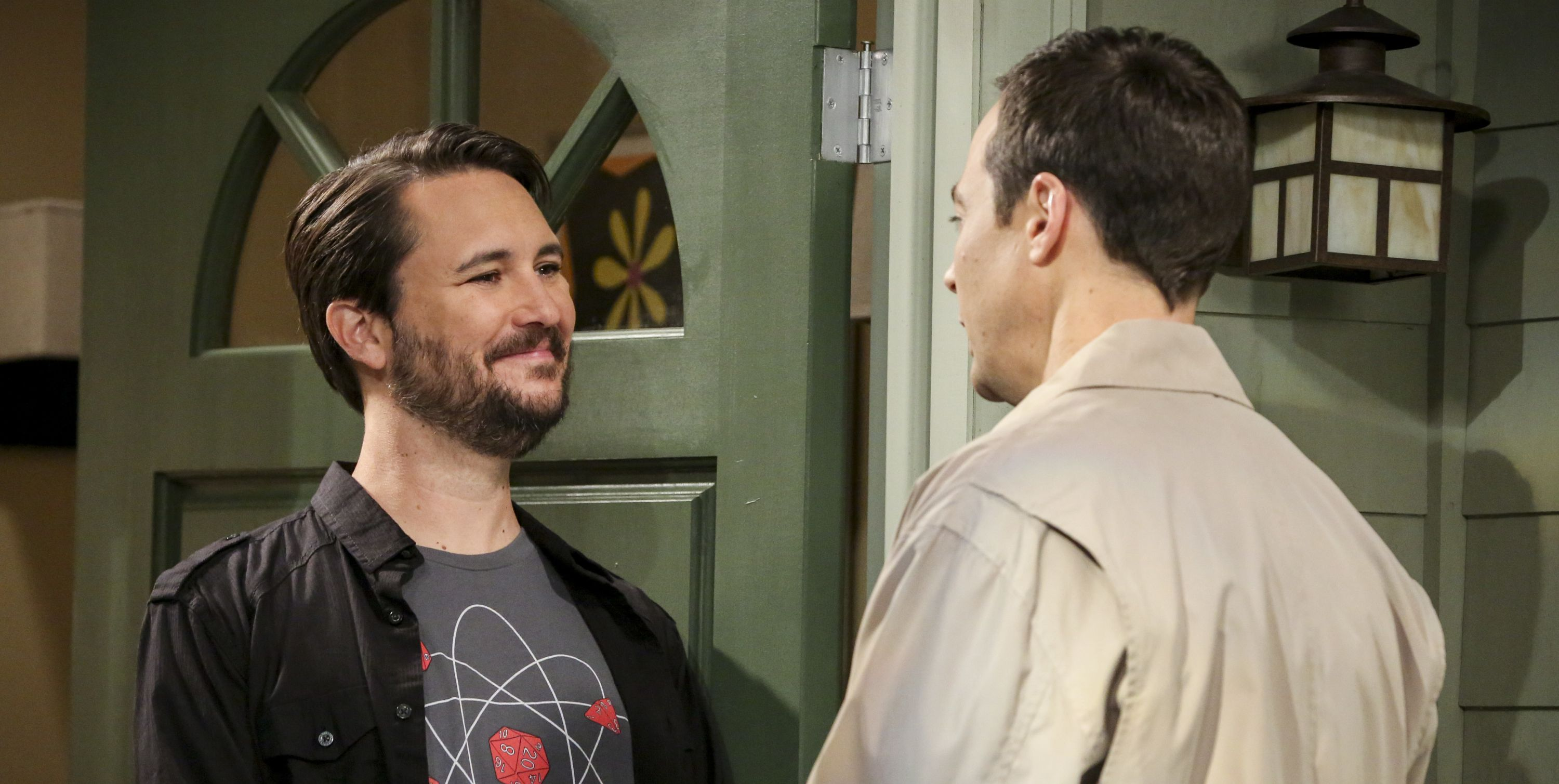 Wil Wheaton and Jim Parsons in The Big Bang Theory