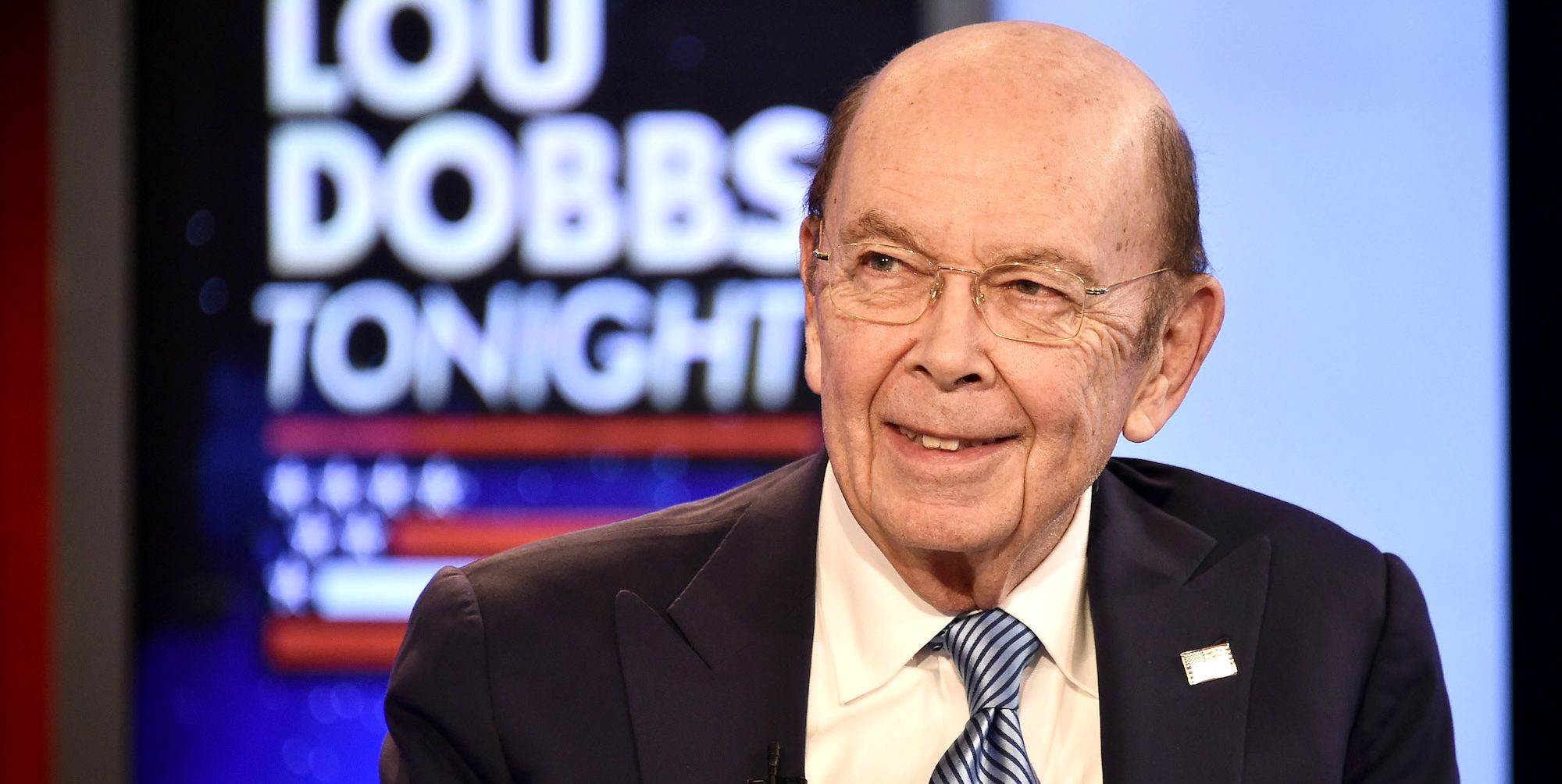 "Secretary Of Commerce Wilbur Ross Visits ""Lou Dobbs Tonight"""