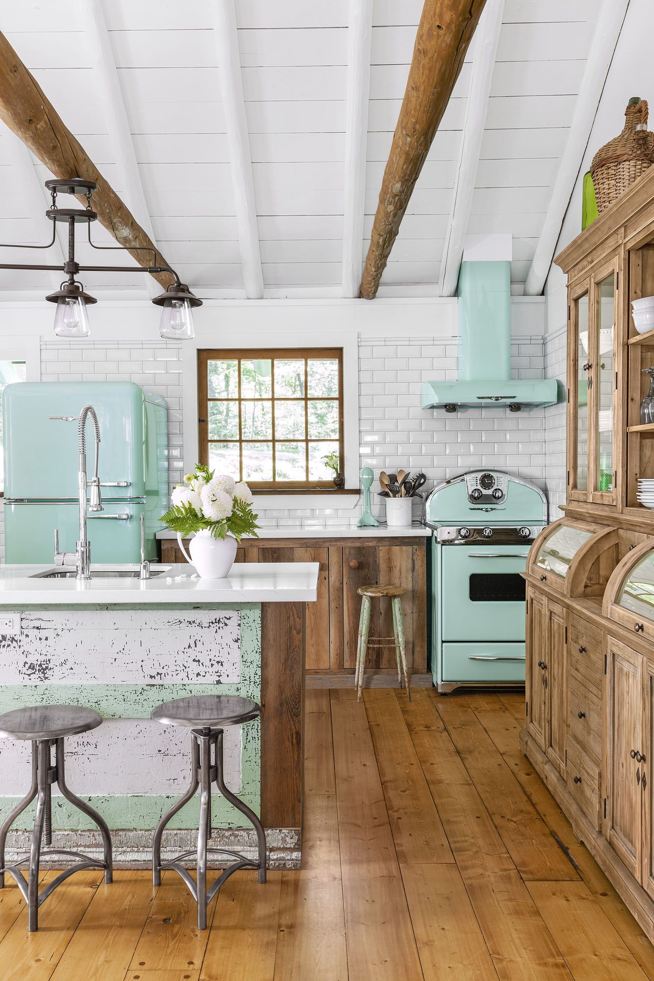 mint green kitchen appliance