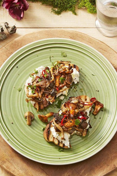 Wild Mushroom Toasts - Christmas Appetizers