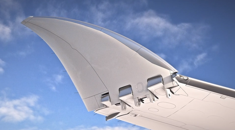 Sky, Wing, Airplane, Aerospace engineering, Architecture, Supersonic transport, Airliner, Vehicle, Flap, Aircraft,
