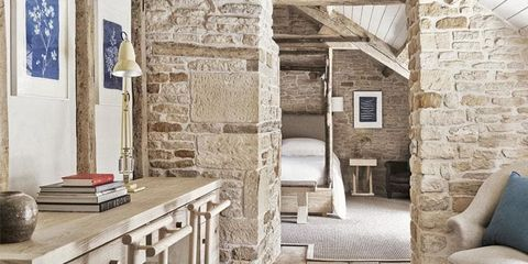 Property, Building, Room, Wall, House, Interior design, Stone wall, Home, Architecture, Furniture,