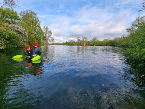 wild swimming near london