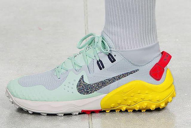 a trail running shoe