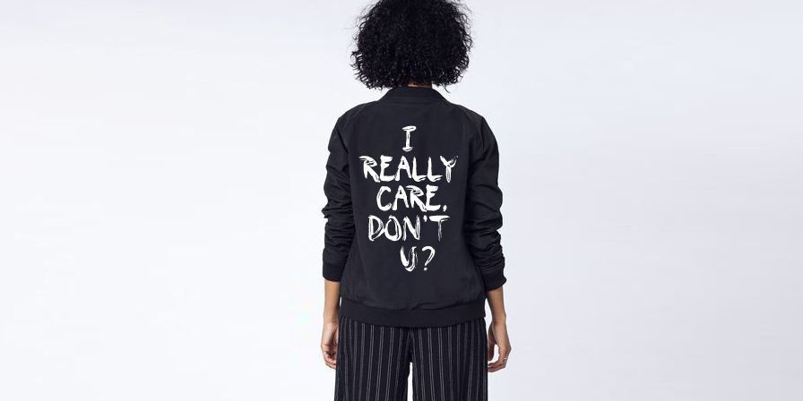 Wildfang, I Really Care, Don't U, Melania Trump, reactie, jas, first lady, Trump, kinderen, grens, Amerika, gescheiden, ouders