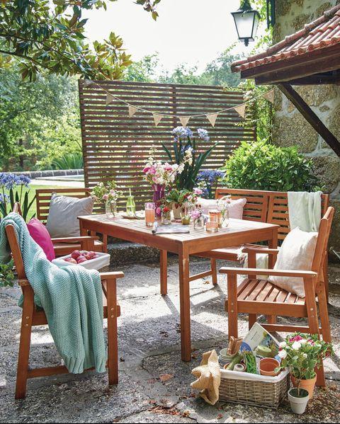 wilko fsc wooden dining set 5 piece - Garden Funiture Set