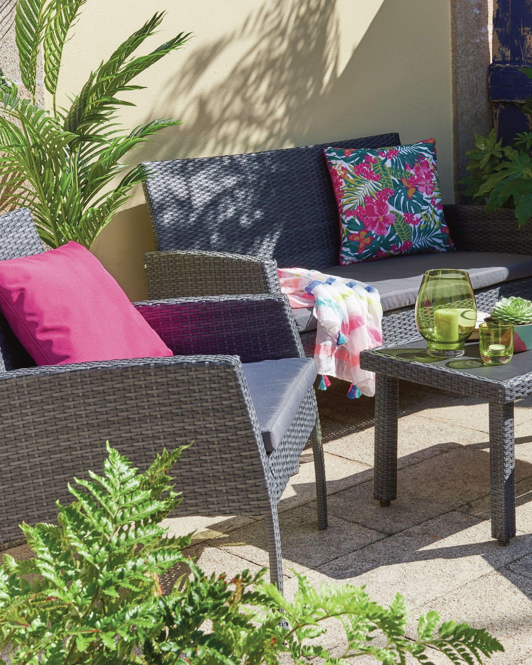 Wilko Garden Rattan Lounge Set
