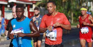 Will Smith durante el Medio Maratón de La Habana