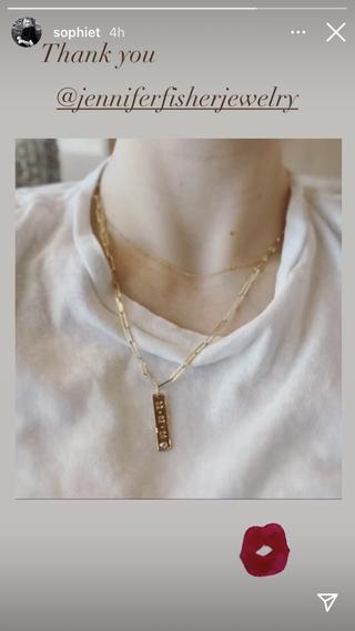 sophie turner necklace