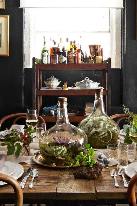 terrariums on a table