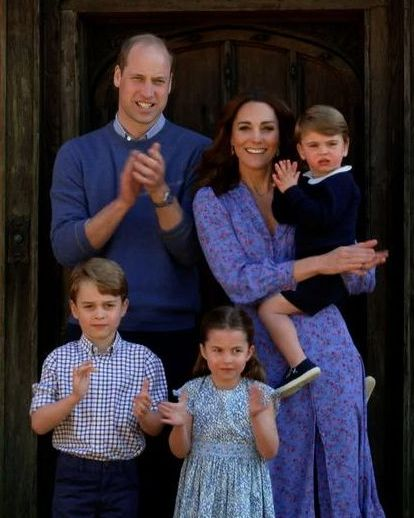 prince george, princess charlotte, prince louis, clap for carers, kate middleton, prince william prince william just made a very sweet dad joke