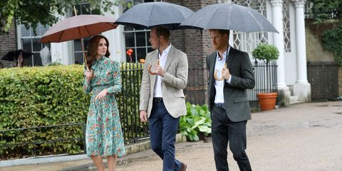 Prince William Kate Middleton and Prince Harry on the 20th anniversary of Princess Diana's death