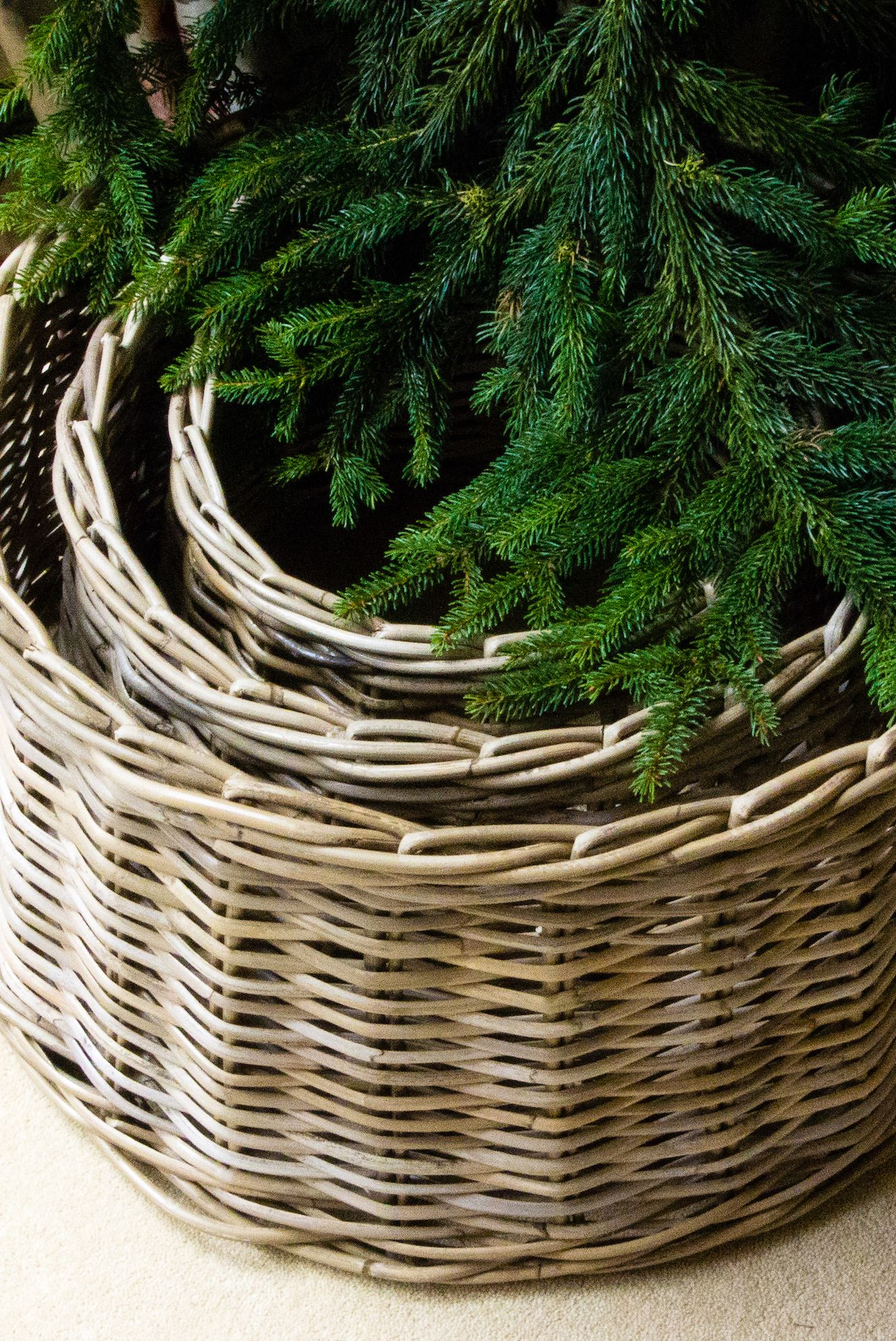 Willow Christmas Tree Skirt, Notonthehighstreet.com